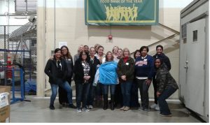AAA 1-B staff volunteers at Gleaners