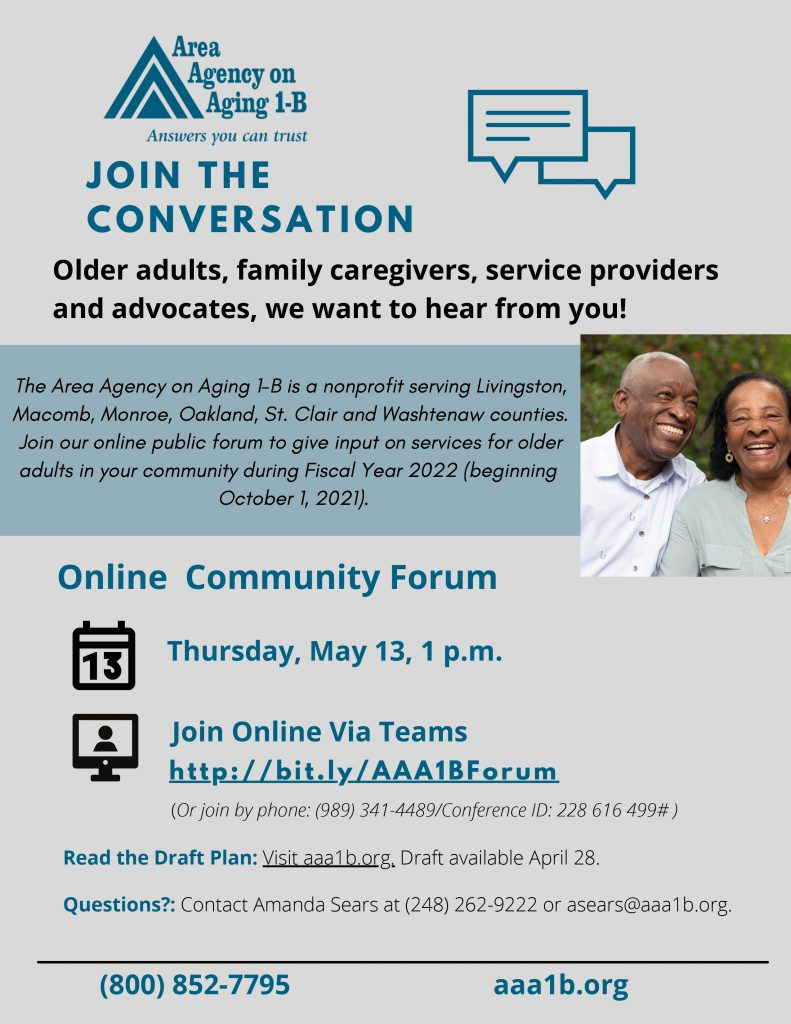 AAA 11-B Virtual Community Forum Flyer