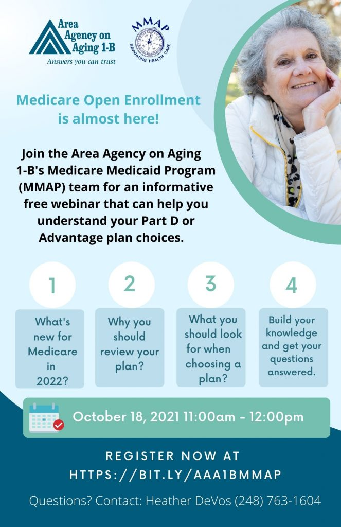 Area Agency on Aging 1-B Medicare 101 Flyer